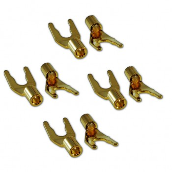 Разъемы Wireworld Set of 8 Gold Spades